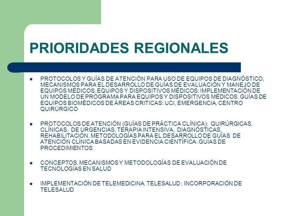 PRIORIDADES REGIONALES