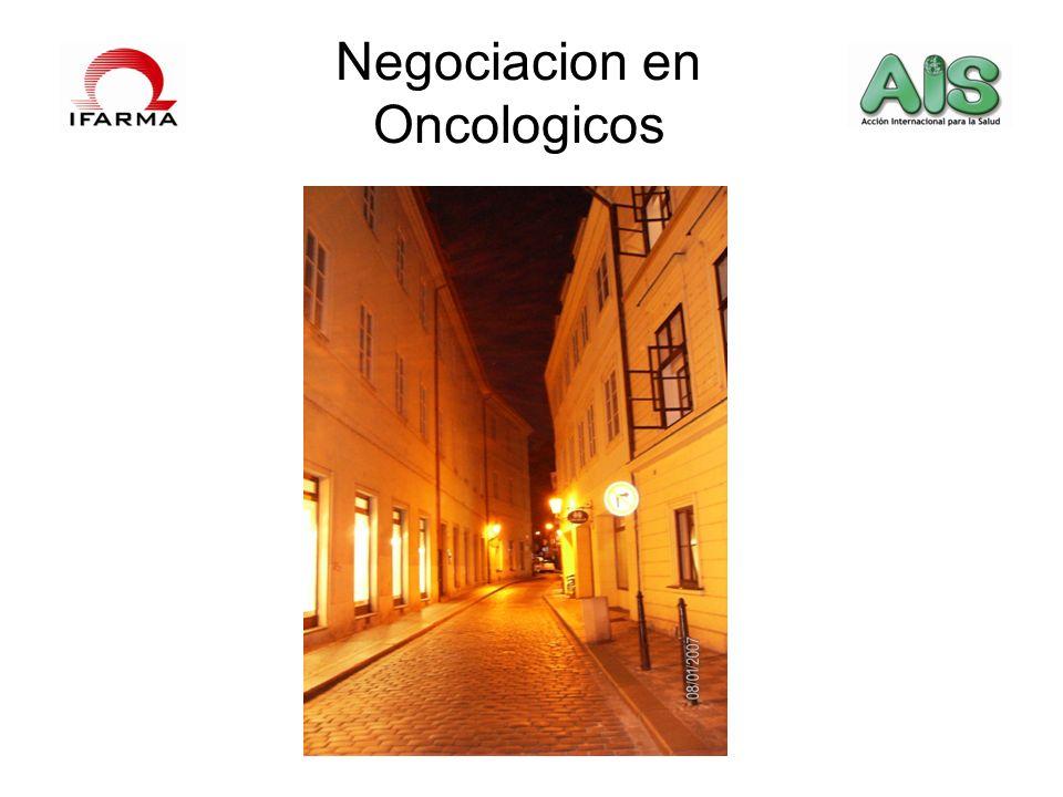 Negociacion en Oncologicos
