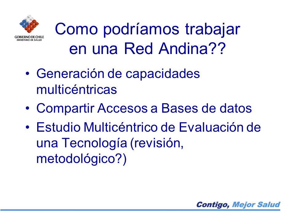 Como podríamos trabajar en una Red Andina