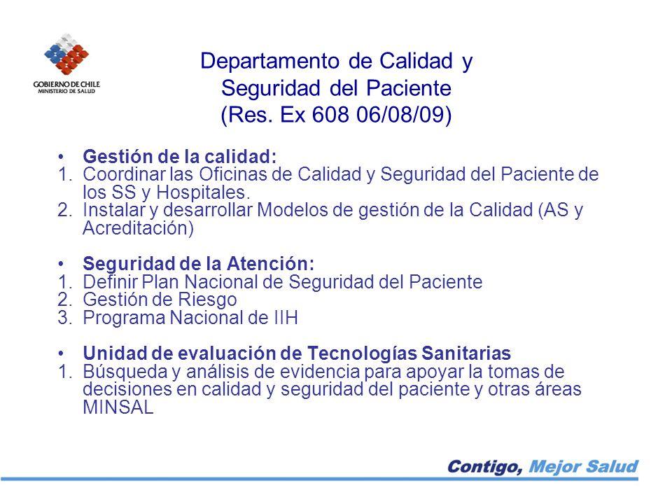 Departamento de Calidad y Seguridad del Paciente (Res. Ex 608 06/08/09)