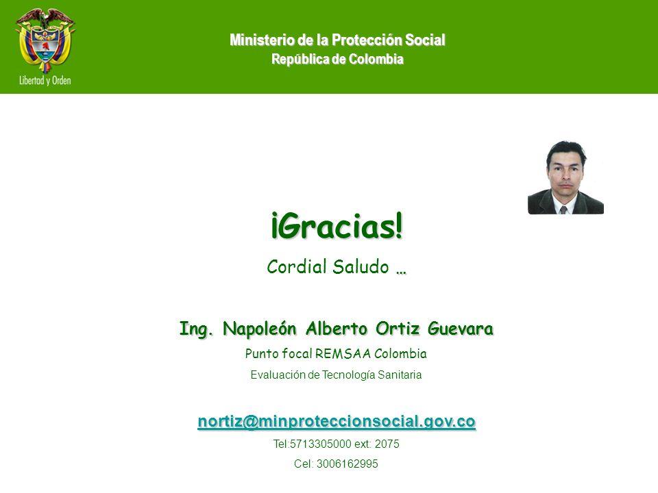 ¡Gracias! Cordial Saludo … Ing. Napoleón Alberto Ortiz Guevara