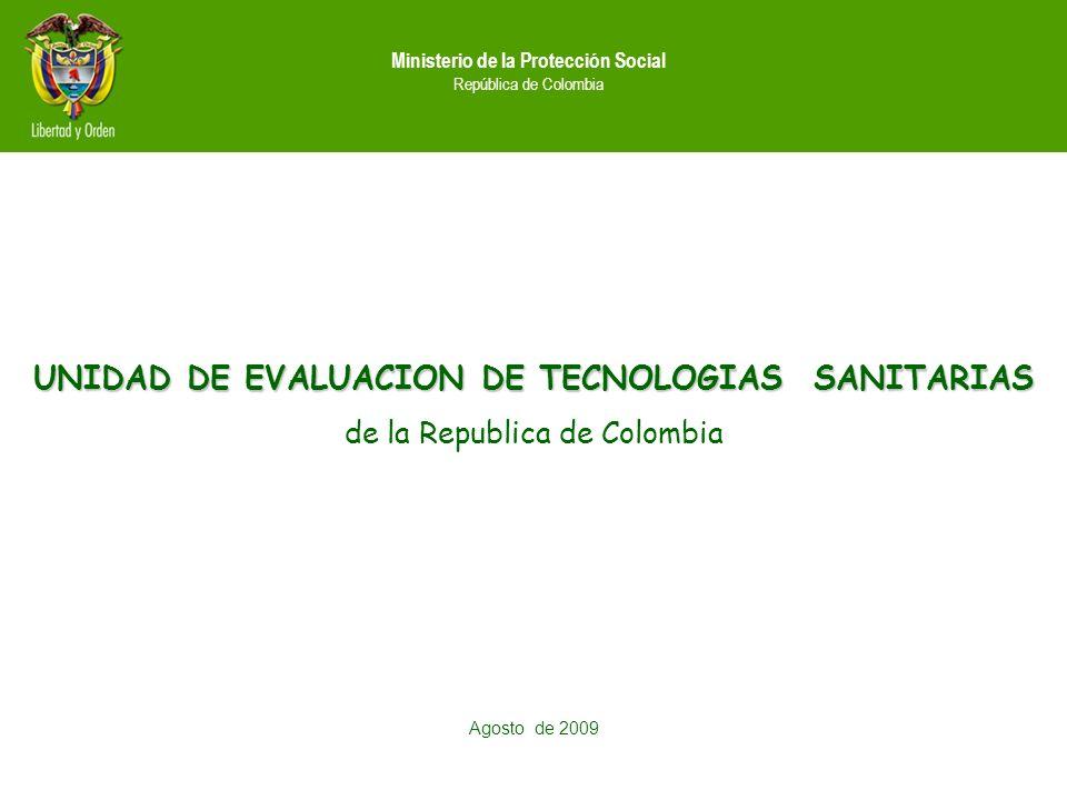 UNIDAD DE EVALUACION DE TECNOLOGIAS SANITARIAS