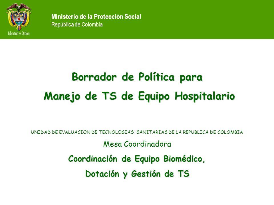 Borrador de Política para Manejo de TS de Equipo Hospitalario