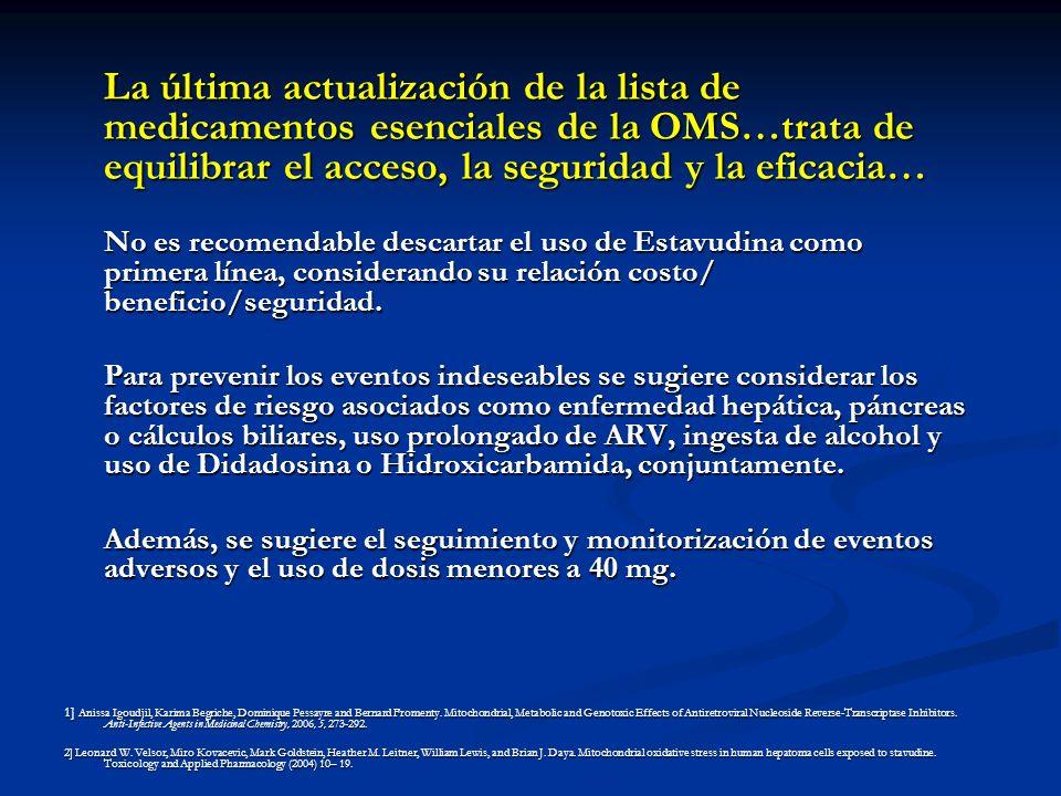 La última actualización de la lista de medicamentos esenciales de la OMS…trata de equilibrar el acceso, la seguridad y la eficacia…