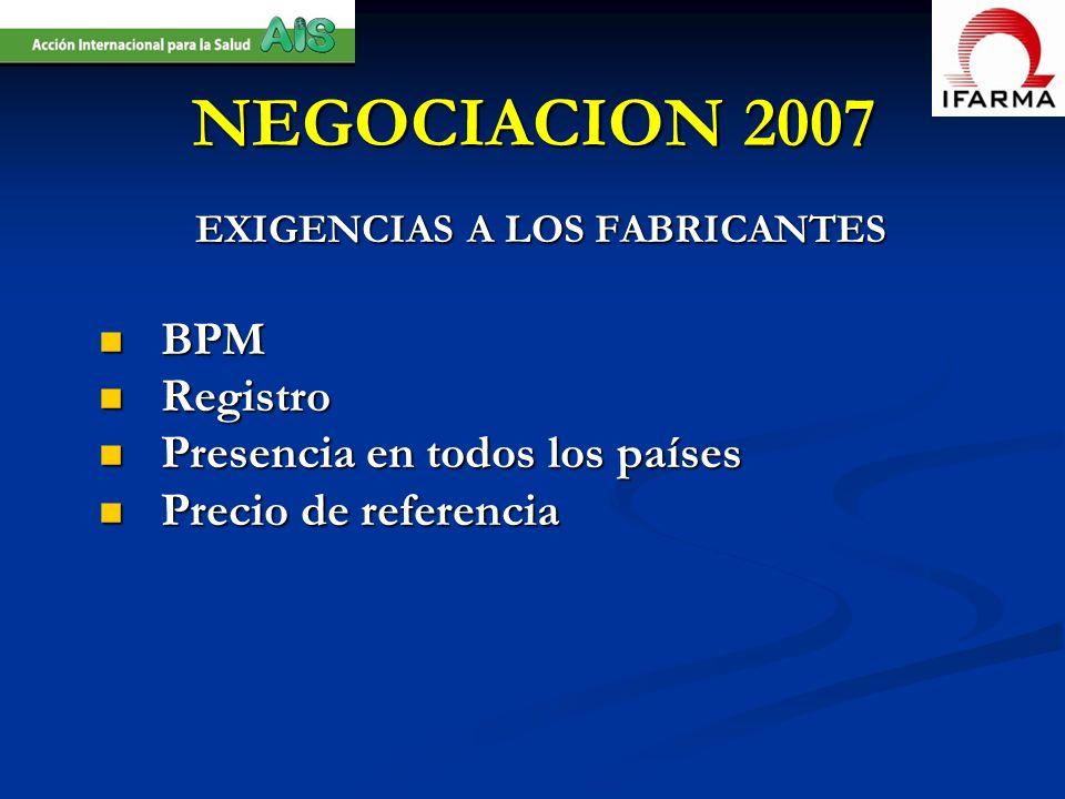 EXIGENCIAS A LOS FABRICANTES