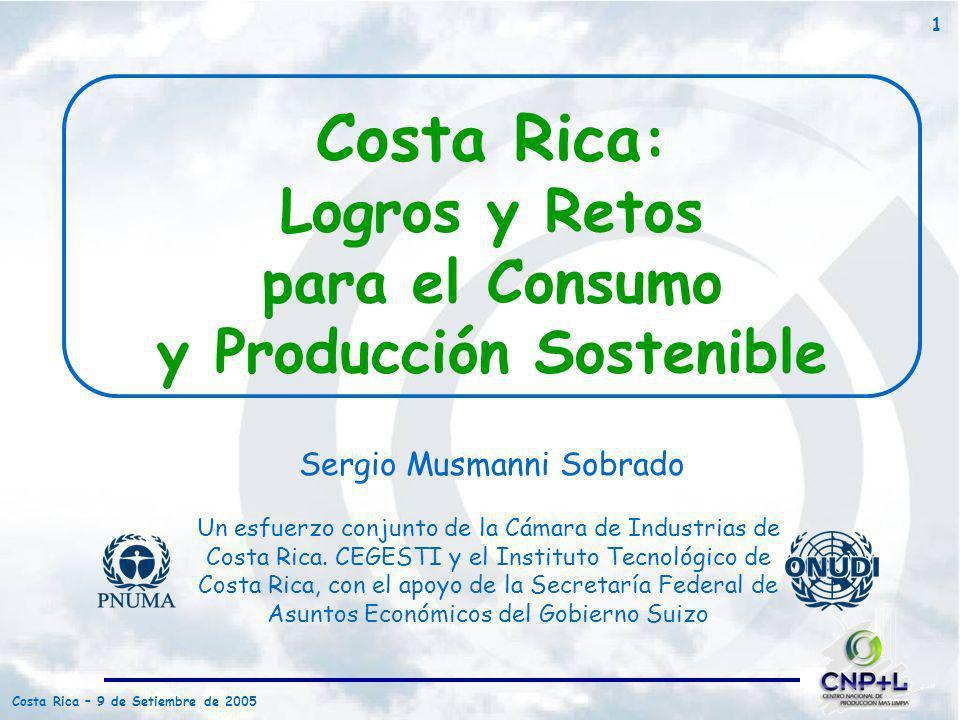 Costa Rica: Logros y Retos para el Consumo y Producción Sostenible