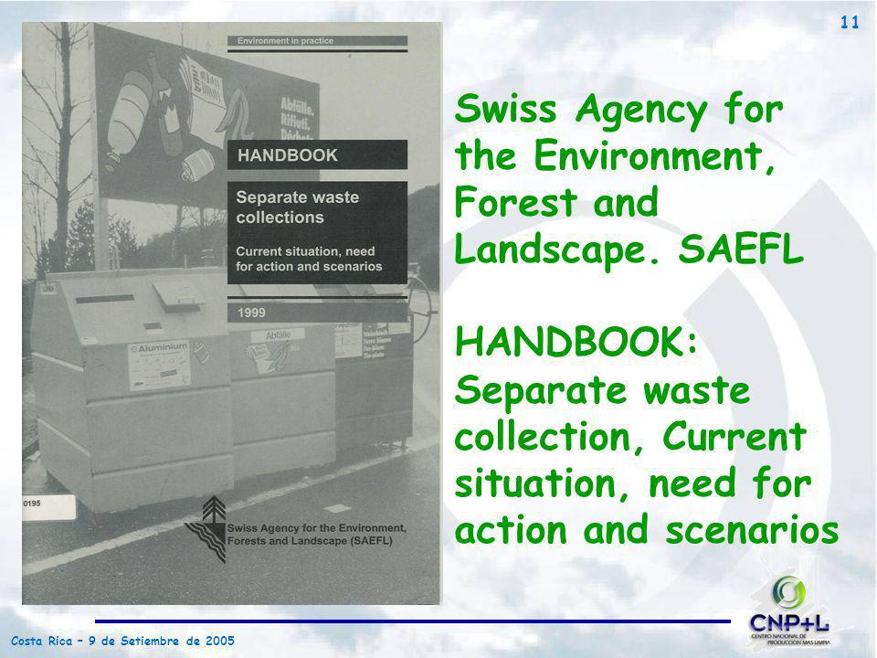 Swiss Agency for the Environment, Forest and Landscape. SAEFL