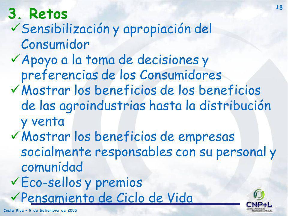3. Retos Sensibilización y apropiación del Consumidor