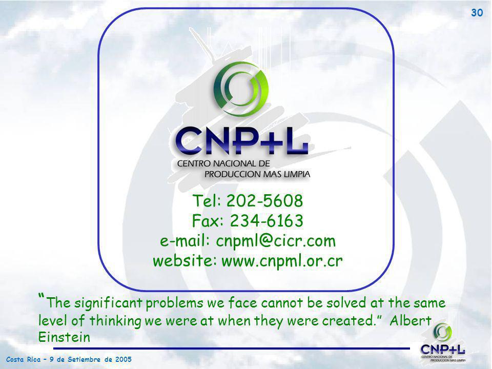 Tel: 202-5608Fax: 234-6163. e-mail: cnpml@cicr.com. website: www.cnpml.or.cr.