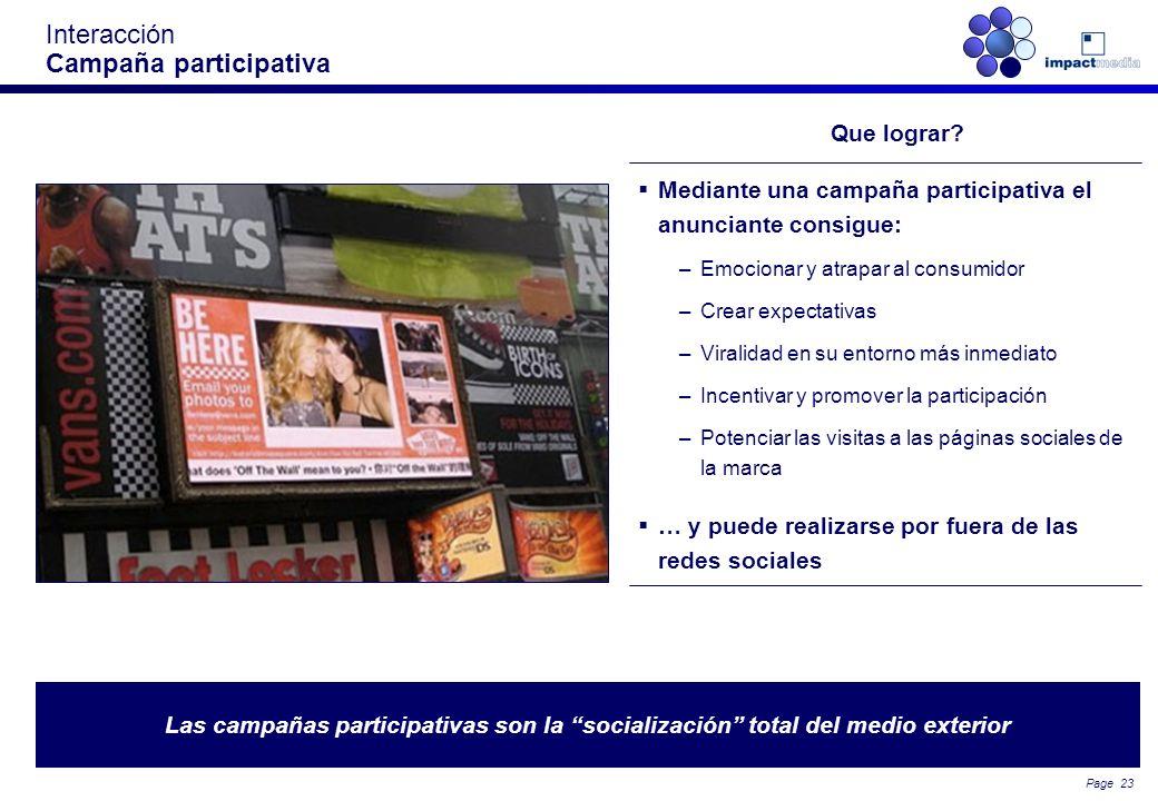 Interacción Campaña participativa