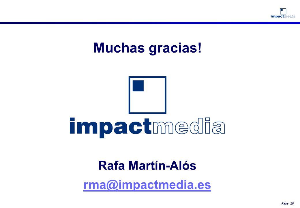 Muchas gracias! Rafa Martín-Alós rma@impactmedia.es