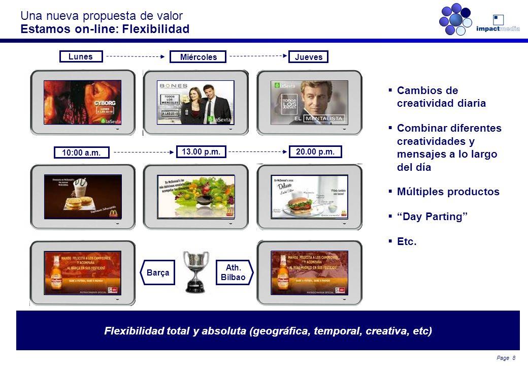 Una nueva propuesta de valor Estamos on-line: Flexibilidad