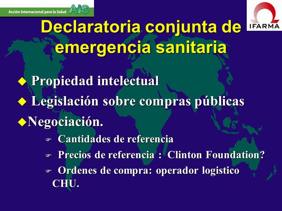 Declaratoria conjunta de emergencia sanitaria