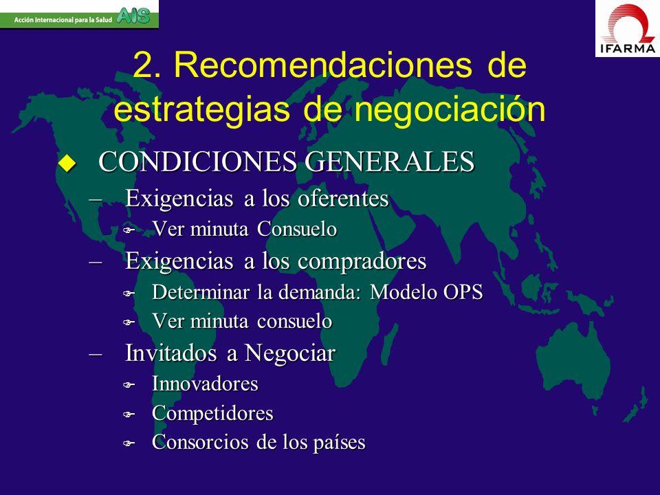 2. Recomendaciones de estrategias de negociación