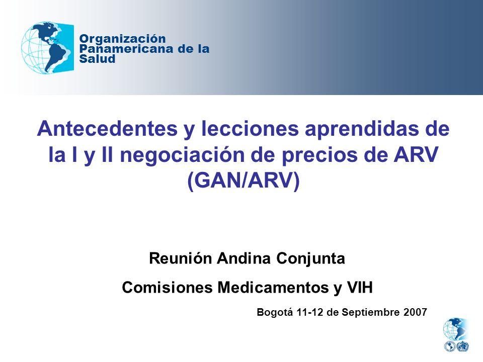 Reunión Andina Conjunta Comisiones Medicamentos y VIH