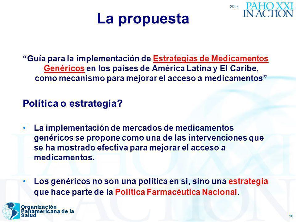 La propuesta Política o estrategia