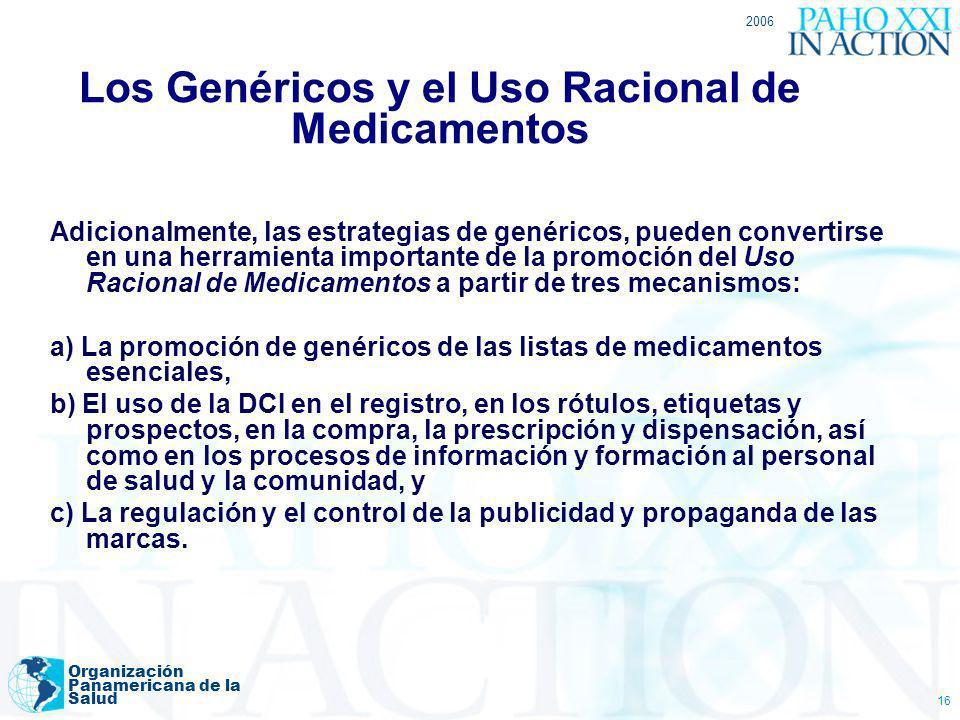 Los Genéricos y el Uso Racional de Medicamentos