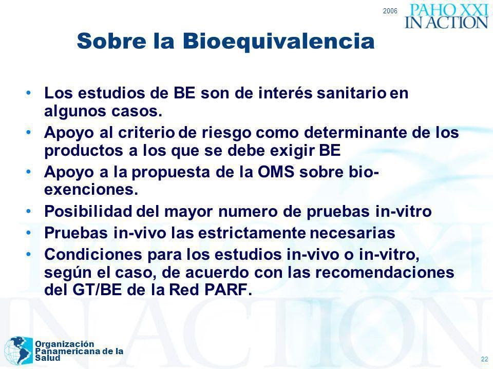 Sobre la Bioequivalencia