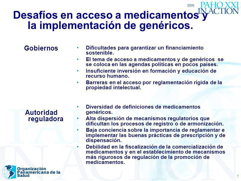 Desafíos en acceso a medicamentos y la implementación de genéricos.