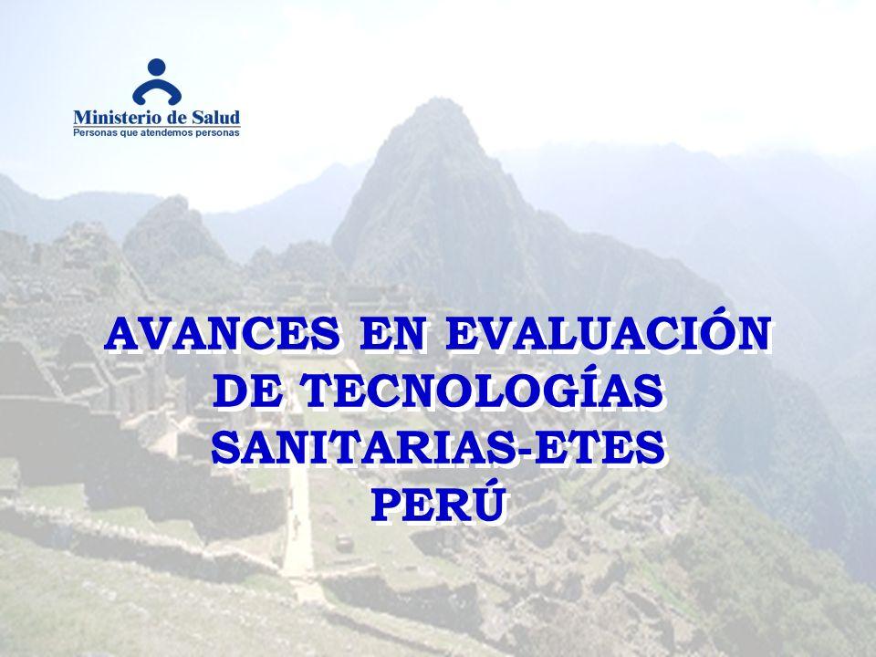 AVANCES EN EVALUACIÓN DE TECNOLOGÍAS SANITARIAS-ETES