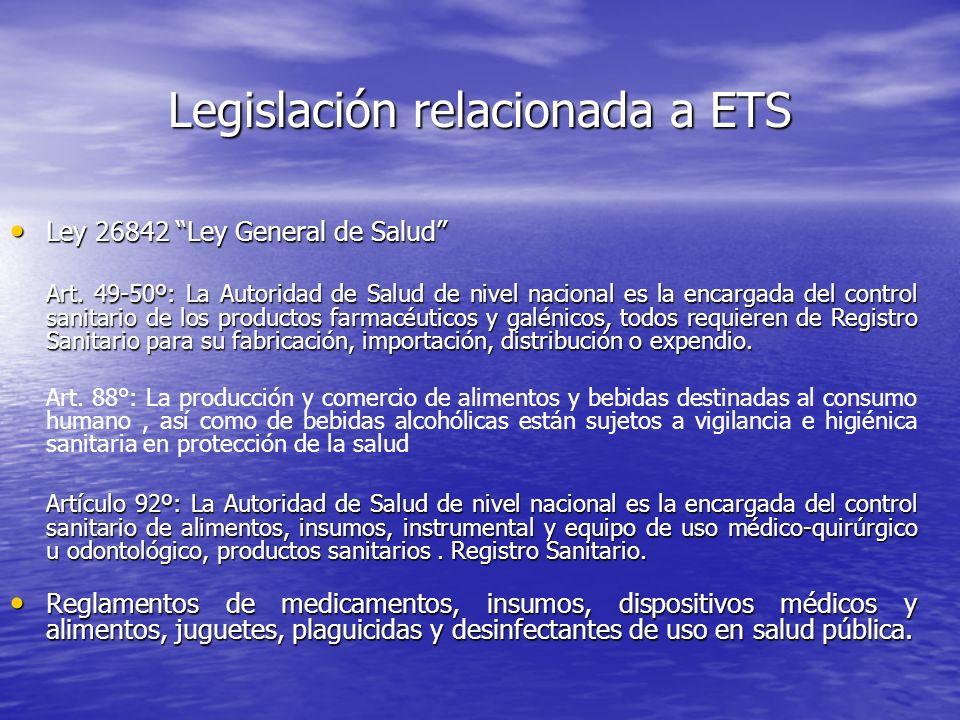 Legislación relacionada a ETS