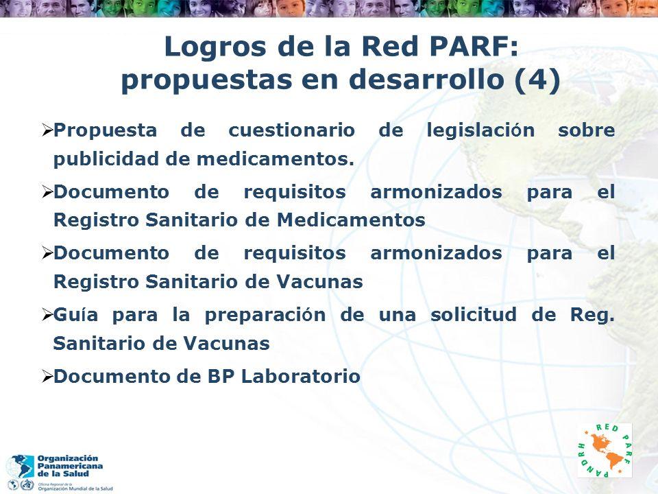 Logros de la Red PARF: propuestas en desarrollo (4)