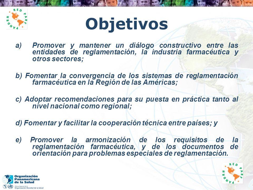 Objetivos Promover y mantener un diálogo constructivo entre las entidades de reglamentación, la industria farmacéutica y otros sectores;