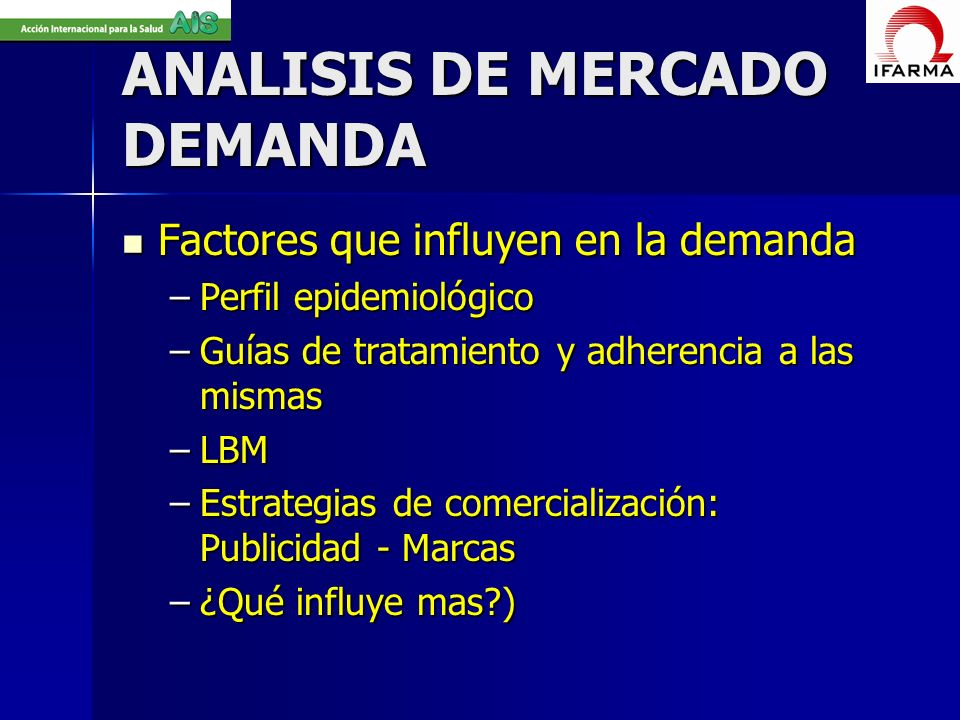ANALISIS DE MERCADO DEMANDA