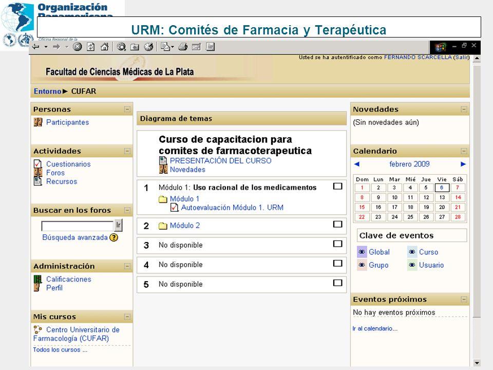 URM: Comités de Farmacia y Terapéutica