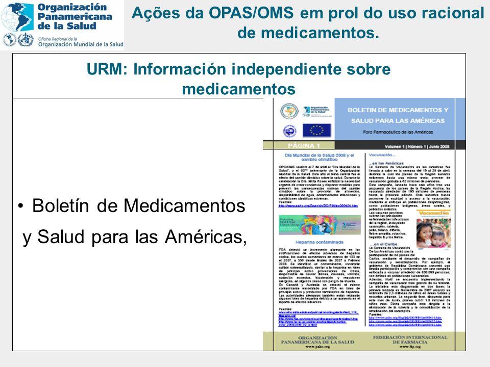 URM: Información independiente sobre medicamentos