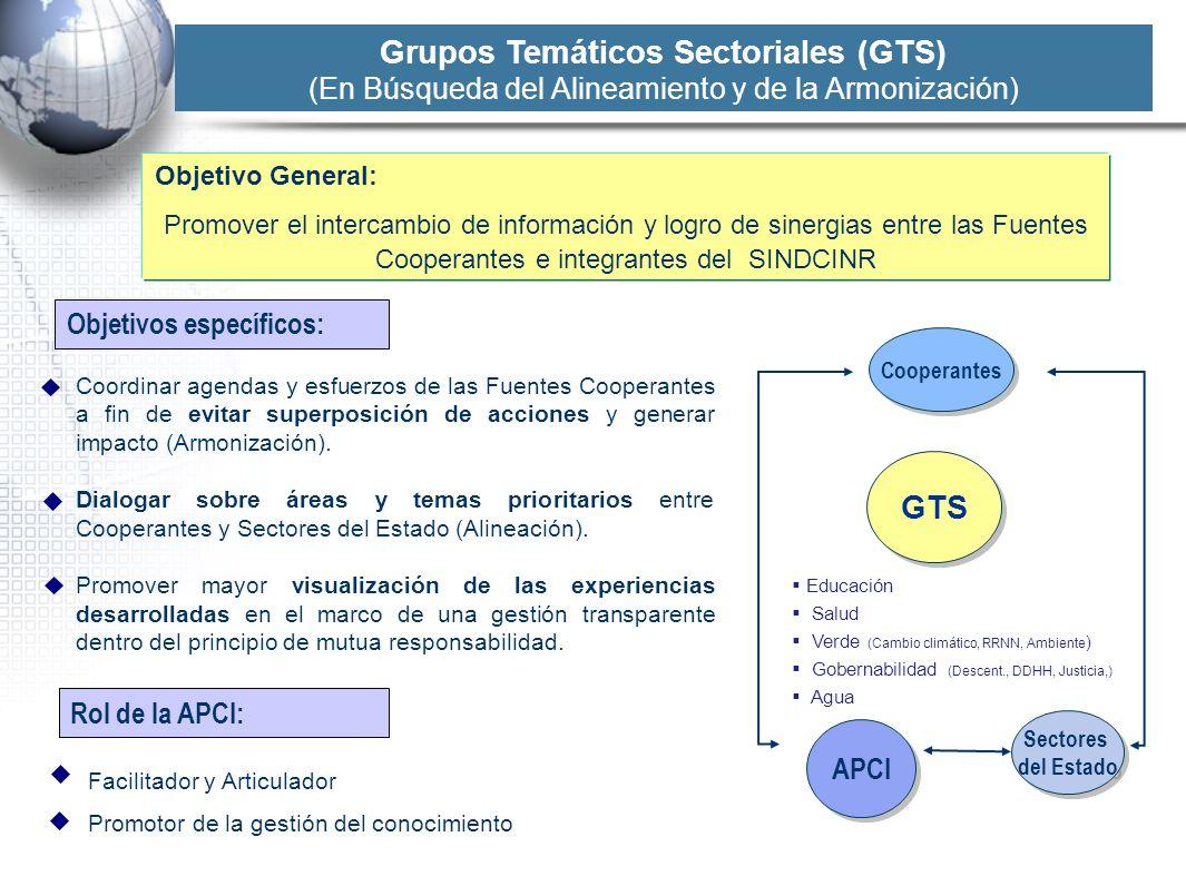 Grupos Temáticos Sectoriales (GTS)