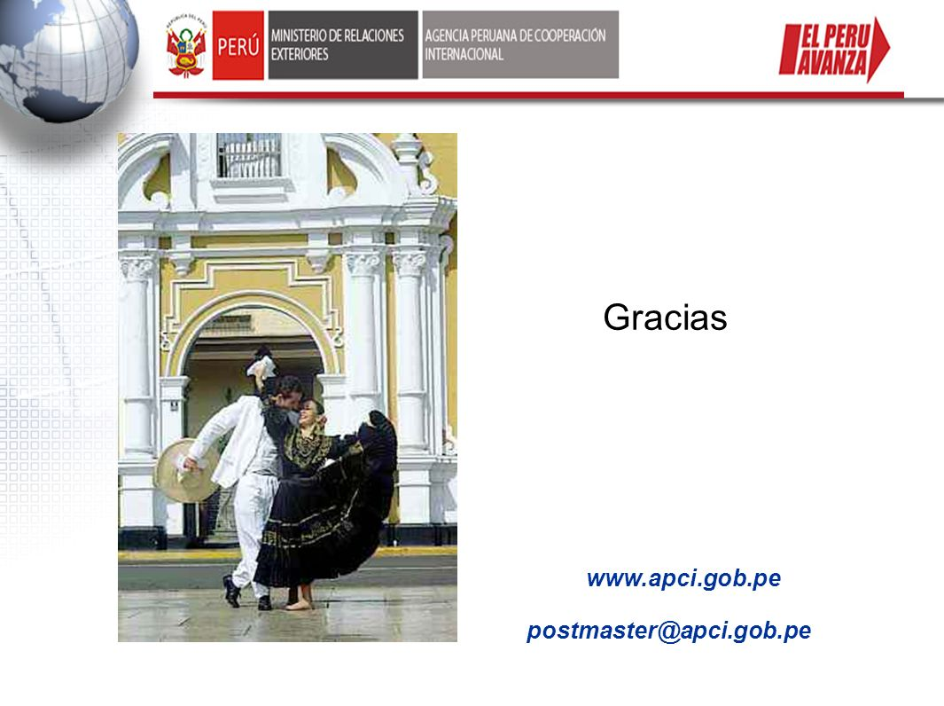 Gracias www.apci.gob.pe postmaster@apci.gob.pe 19