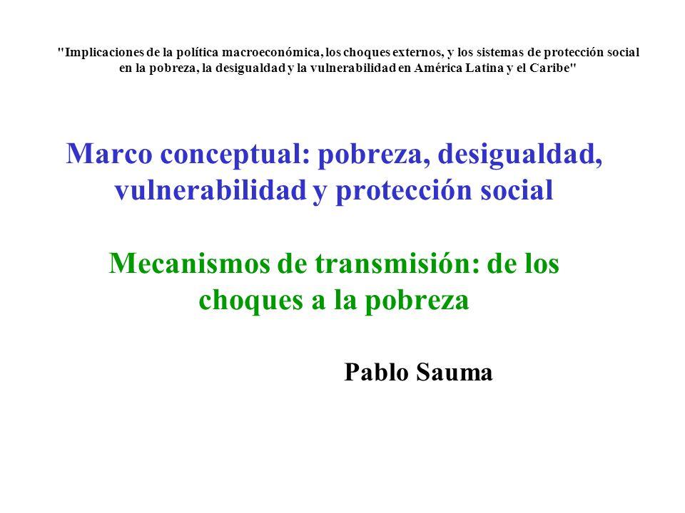 Implicaciones de la política macroeconómica, los choques externos, y los sistemas de protección social en la pobreza, la desigualdad y la vulnerabilidad en América Latina y el Caribe