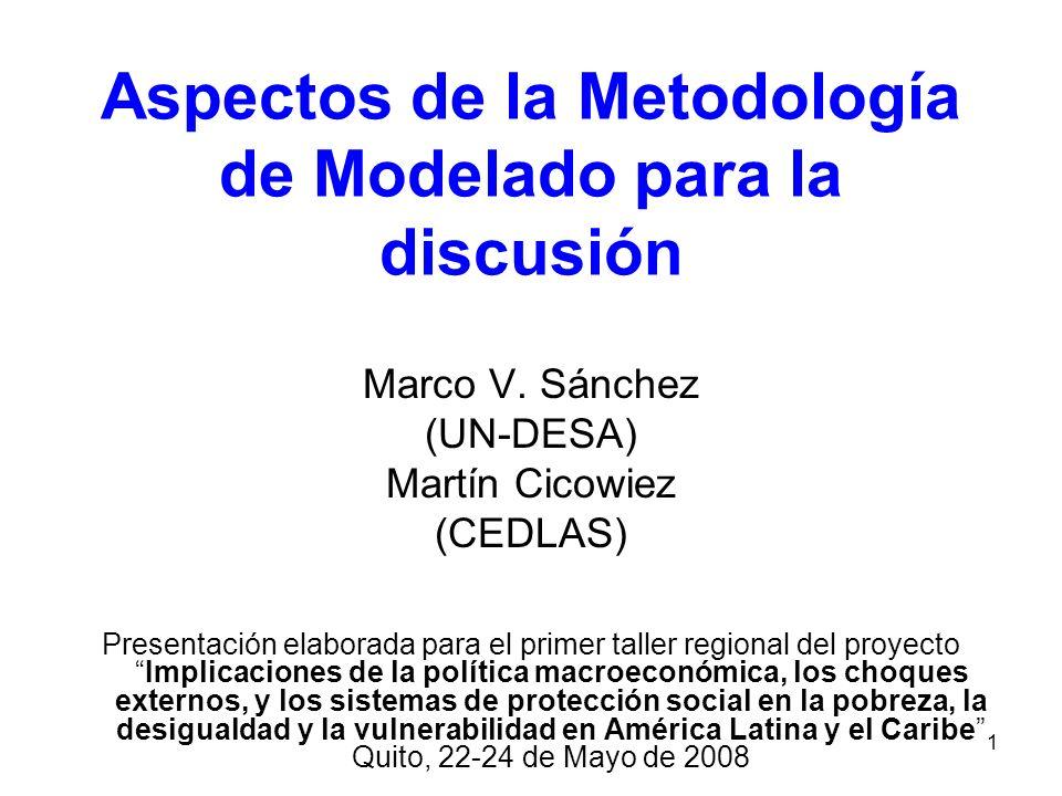 Aspectos de la Metodología de Modelado para la discusión