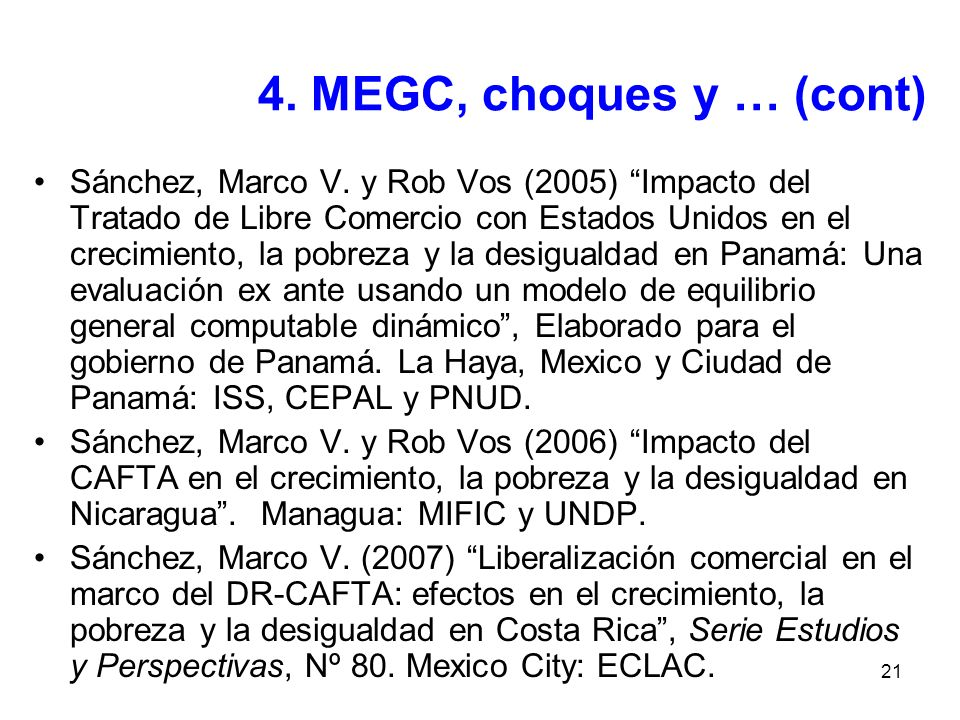 4. MEGC, choques y … (cont)