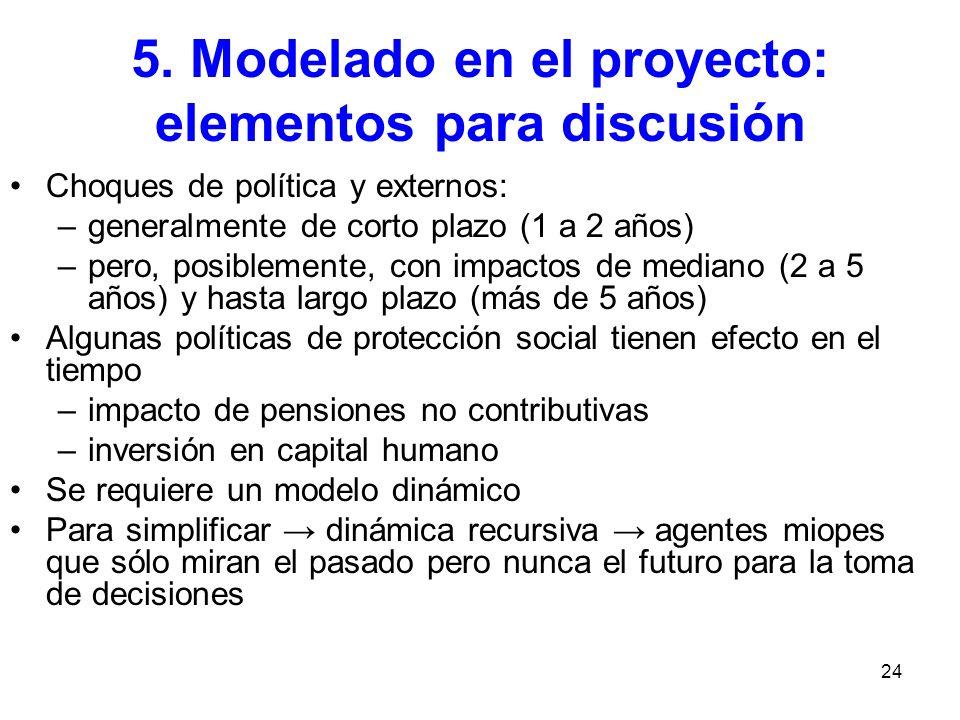 5. Modelado en el proyecto: elementos para discusión