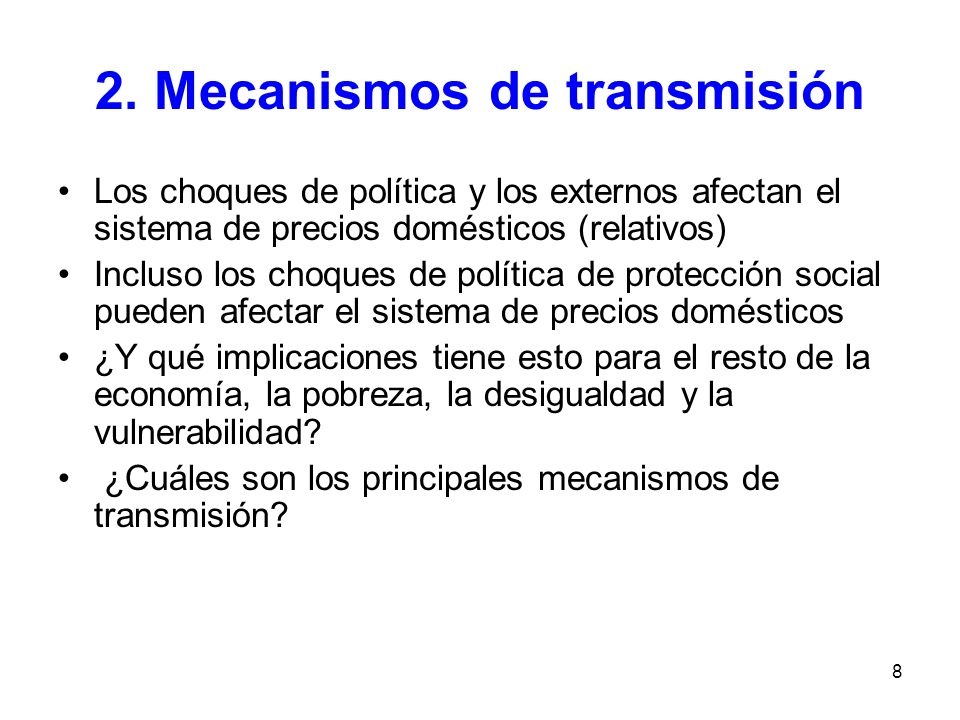 2. Mecanismos de transmisión