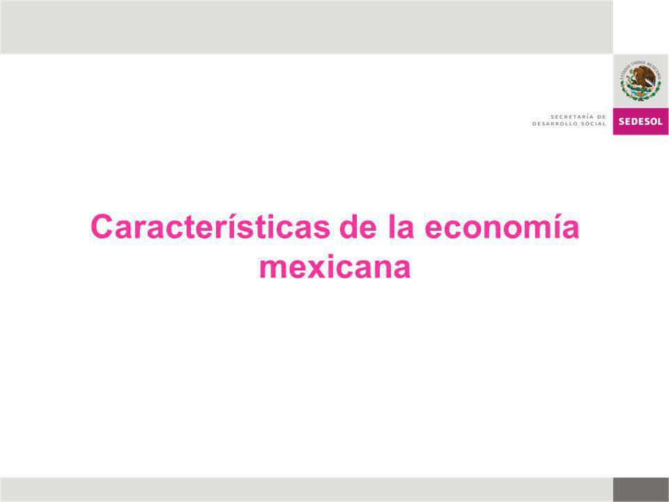 Características de la economía mexicana