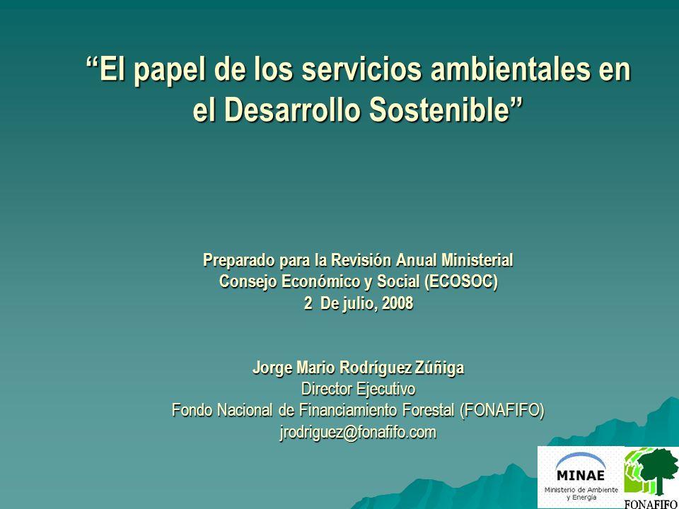 El papel de los servicios ambientales en el Desarrollo Sostenible