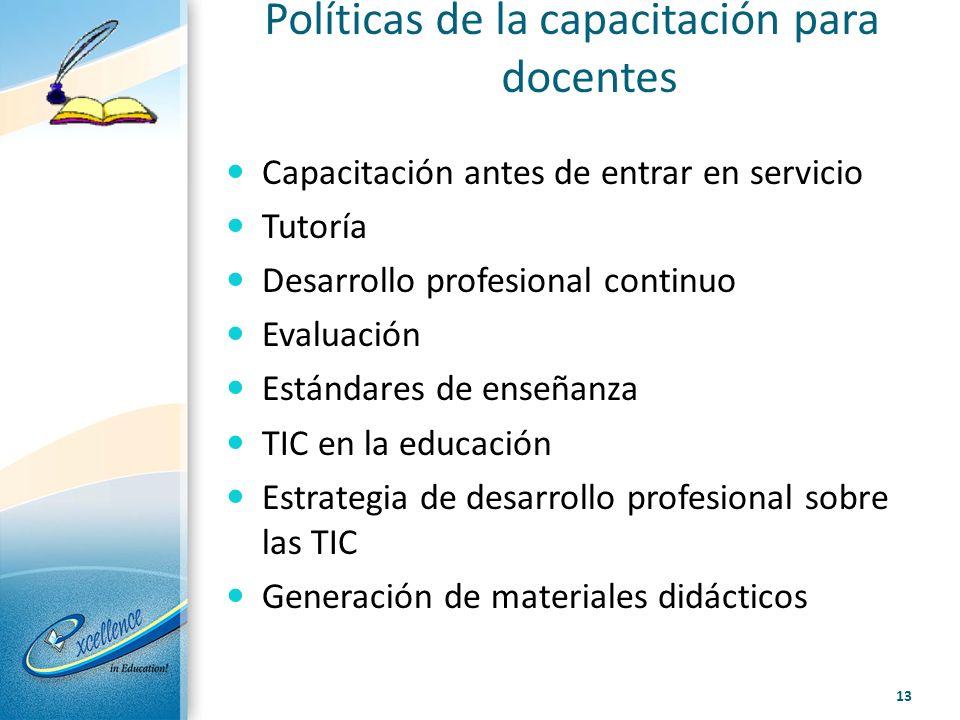 Políticas de la capacitación para docentes