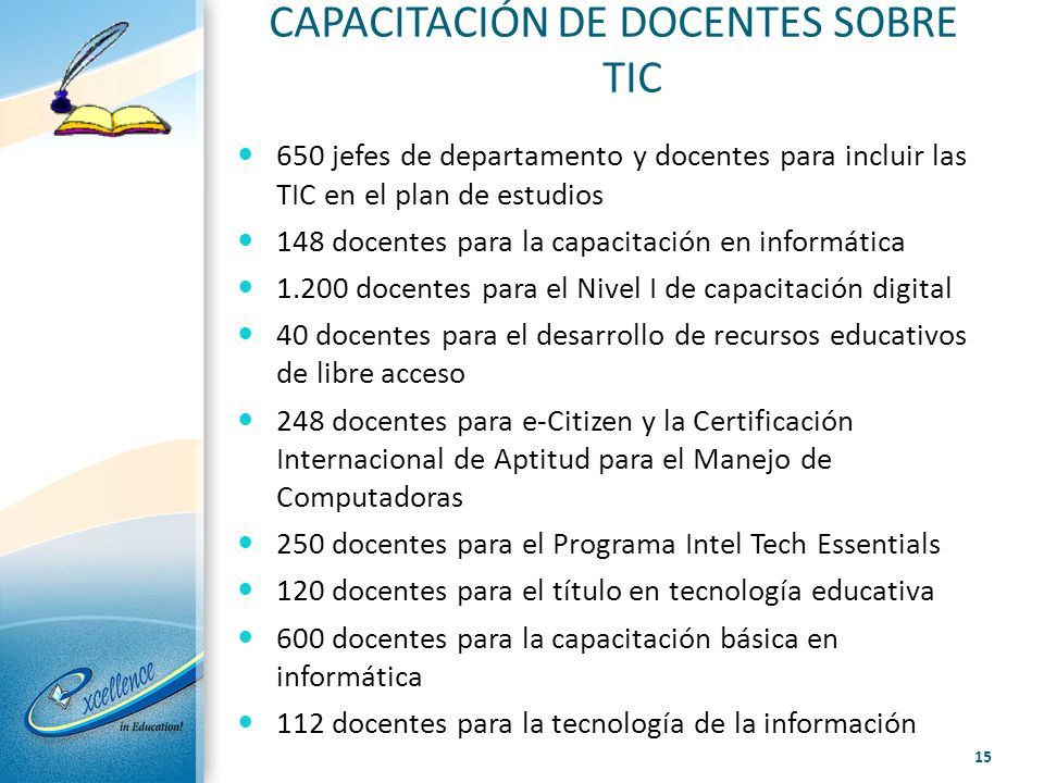 CAPACITACIÓN DE DOCENTES SOBRE TIC