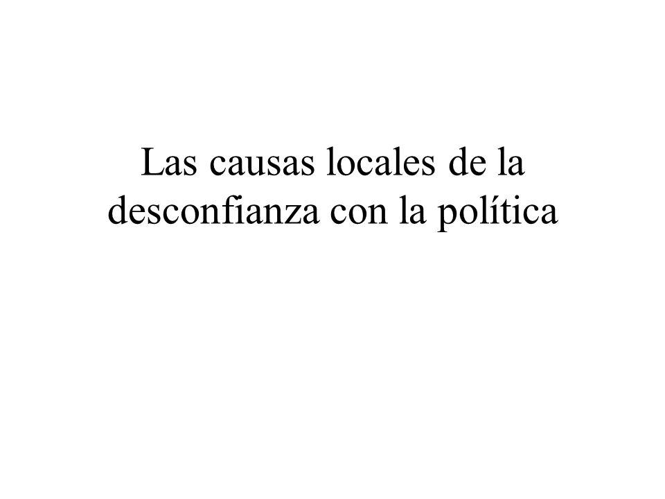 Las causas locales de la desconfianza con la política