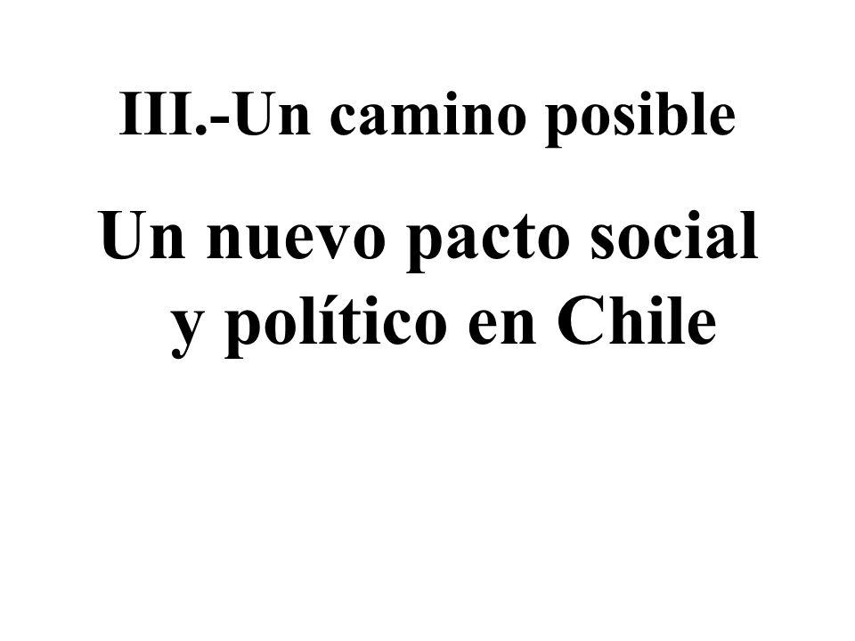 Un nuevo pacto social y político en Chile