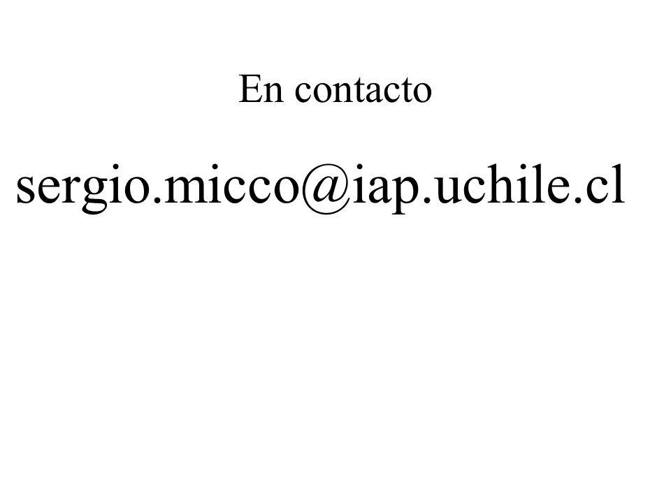 En contacto sergio.micco@iap.uchile.cl