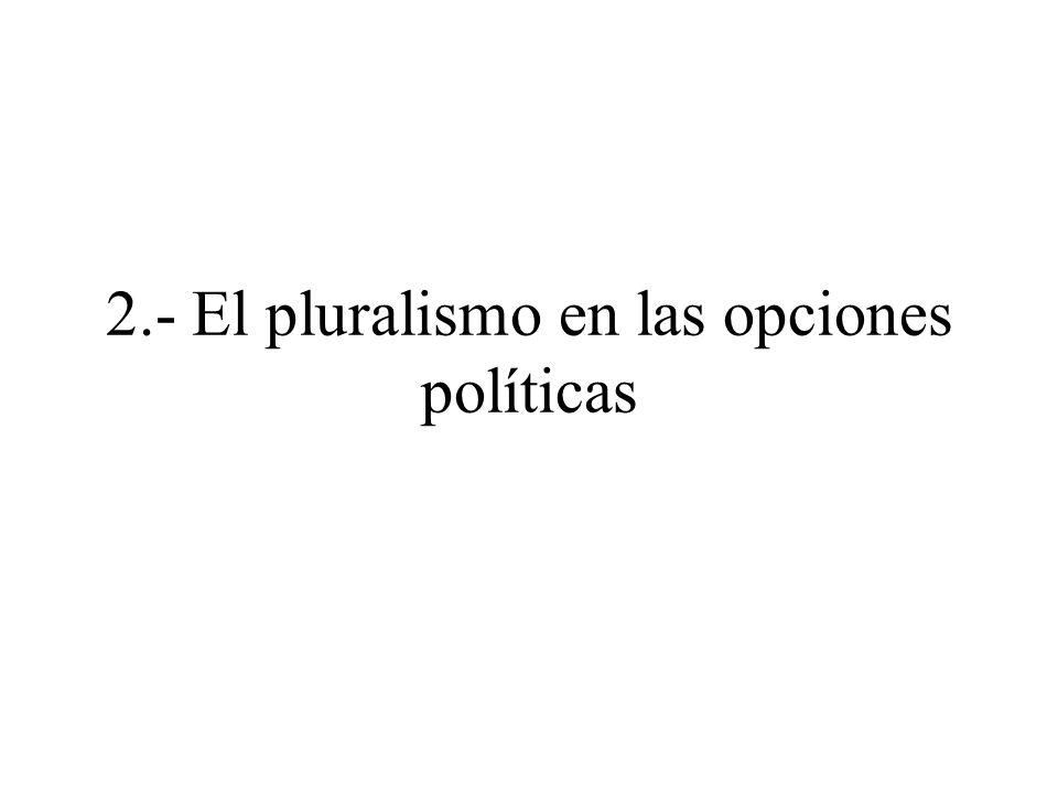 2.- El pluralismo en las opciones políticas