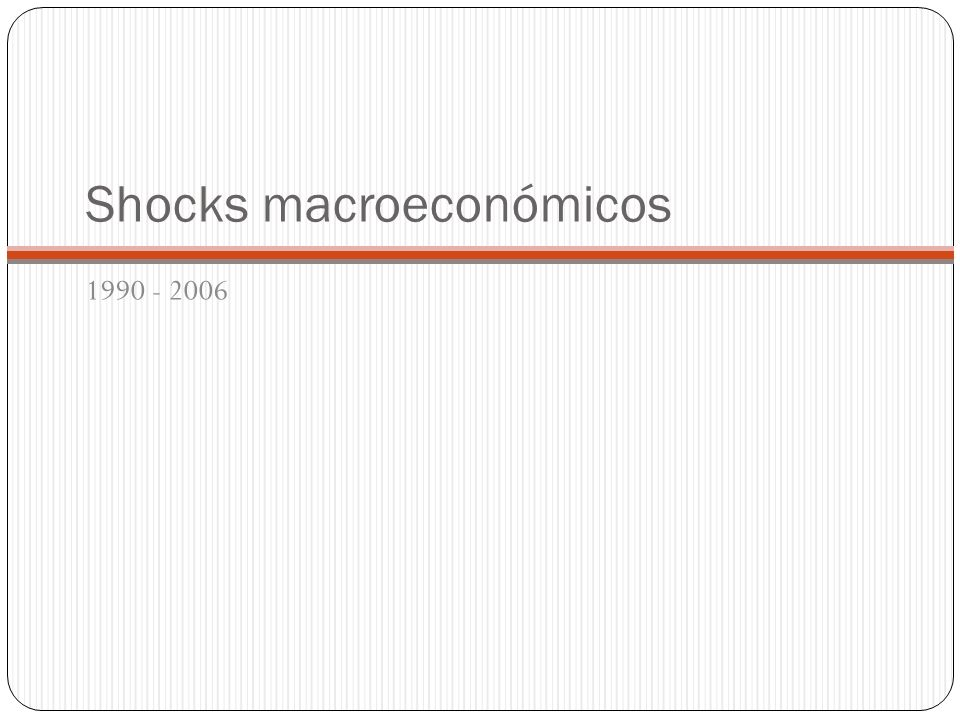 Shocks macroeconómicos