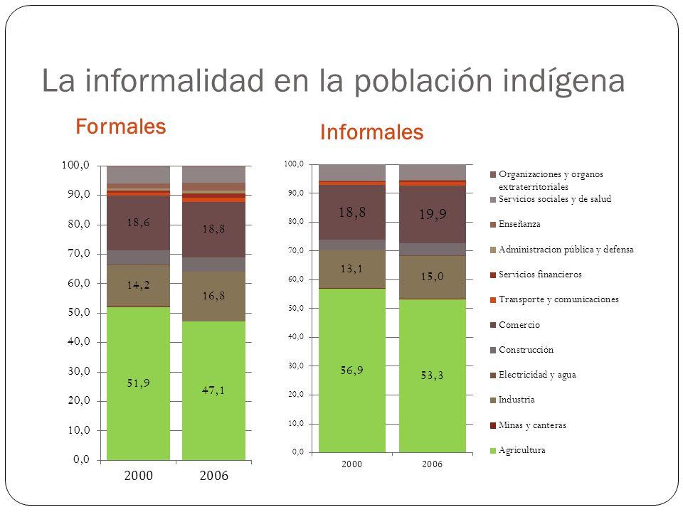 La informalidad en la población indígena