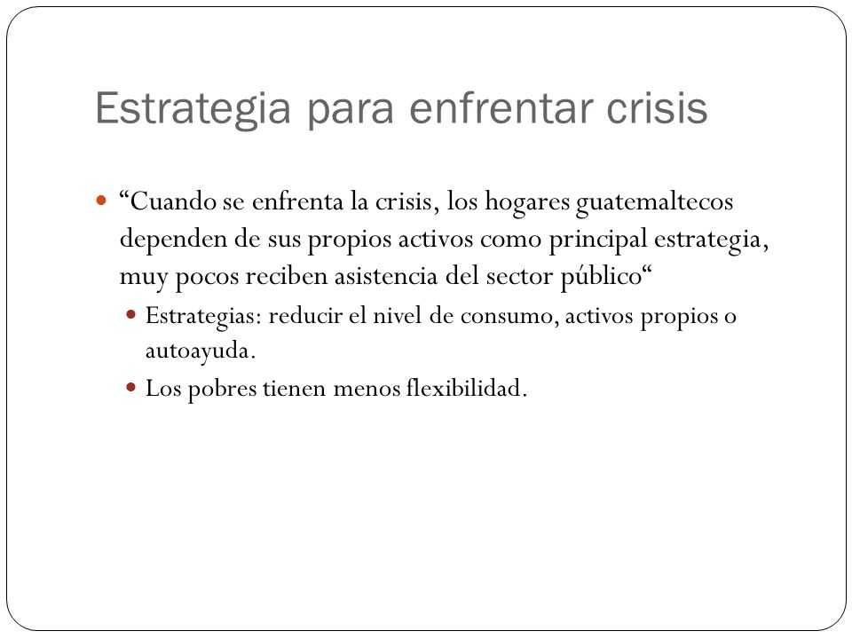 Estrategia para enfrentar crisis