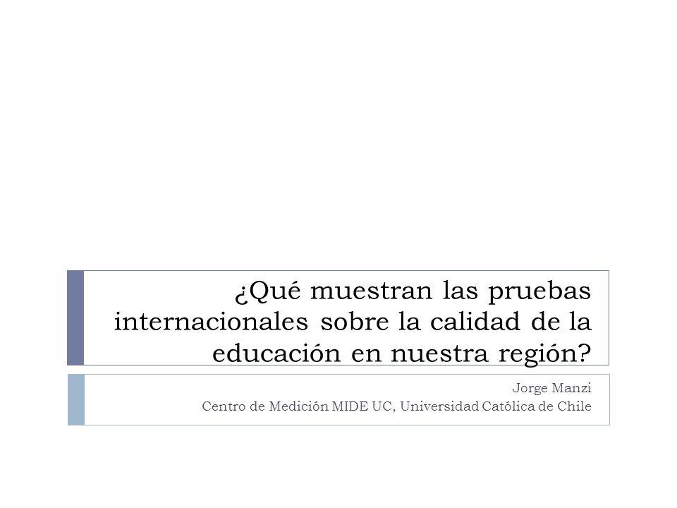 Jorge Manzi Centro de Medición MIDE UC, Universidad Católica de Chile