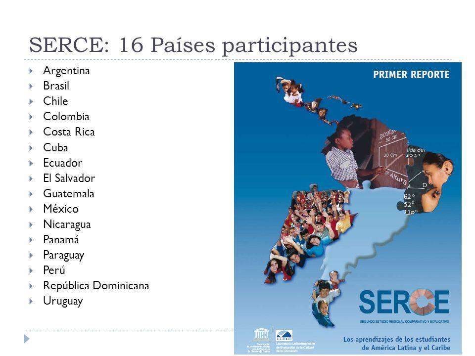 SERCE: 16 Países participantes